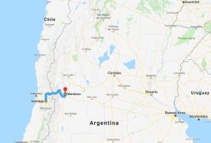 Santiago, Chile, Mendoza, Argentina, Andes, South America