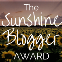 Sunshine Blogger Award Nomination No.2