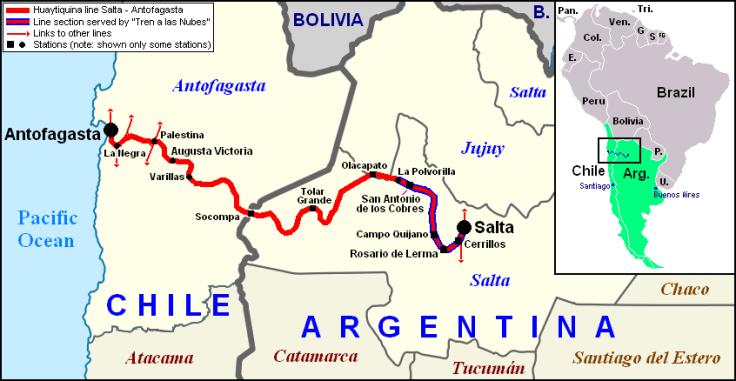 Salta–Antofagasta railway, Argentina, Chile, South America