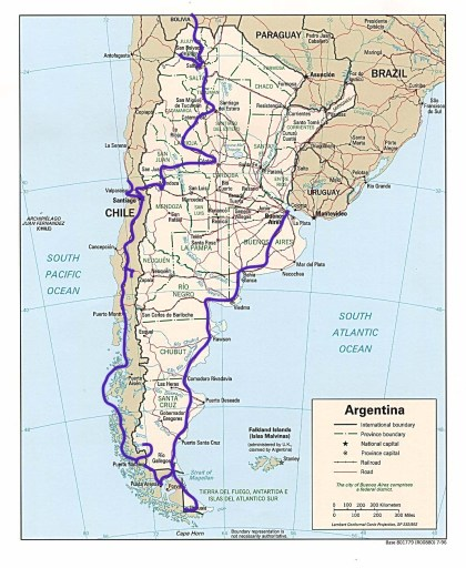 Argentina, Chile, South America