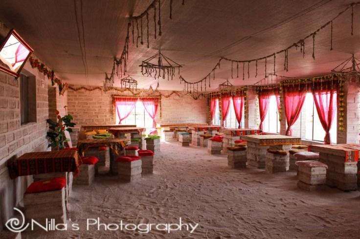 Salt hotel, Salar de Uyuni, Bolivia, South America