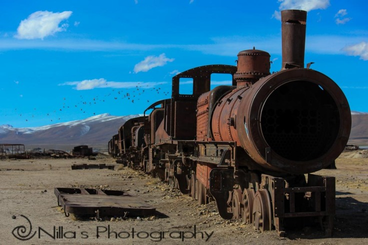 Train cemetery, Uyuni, Bolivia, South America