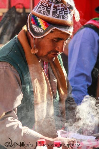 Shaman, market, Sucre, Bolivia, South America