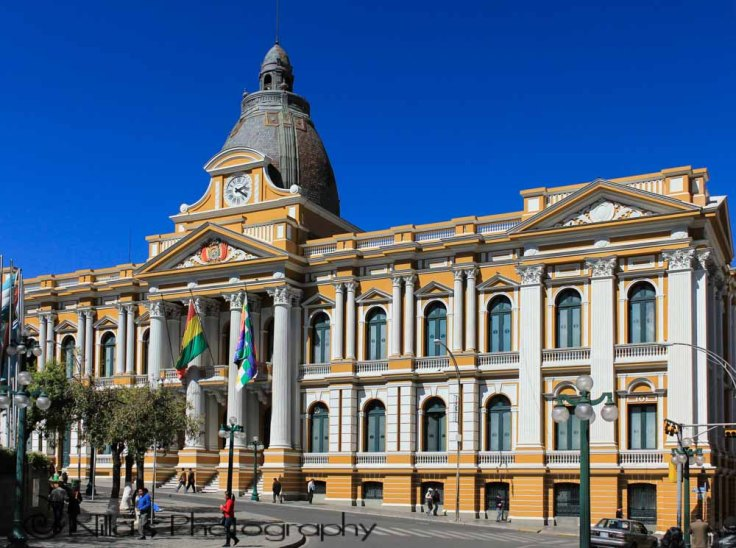 Palacio Quemado, Plaza Murillo, La Paz, Bolivia, South America