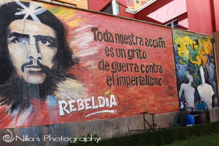Street art, La Paz, Bolivia, South America