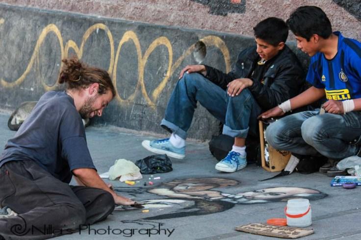 Street artist, La Paz, Bolivia, South America