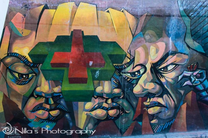 Street art, La Paz, Bolivia, South America