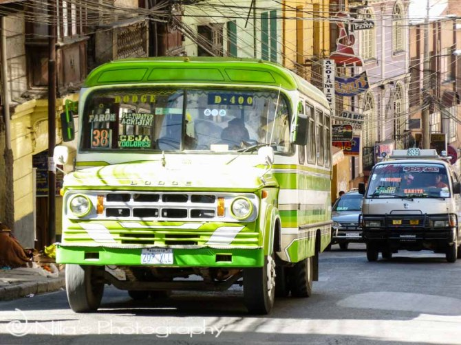 Dodge bus, La Paz, Bolivia, South America