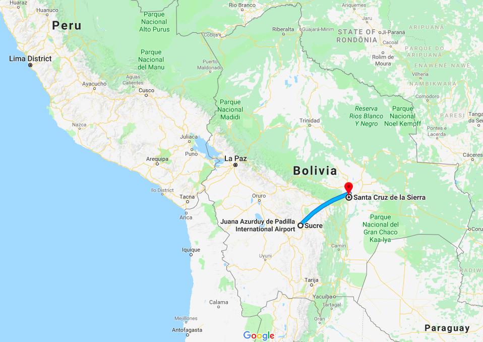 Bolivian Transport: Sucre, Santa Cruz, Trinidad