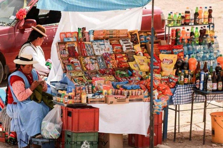 Vendors, Copa Cabana, Lake Titicaca, Bolivia, South America