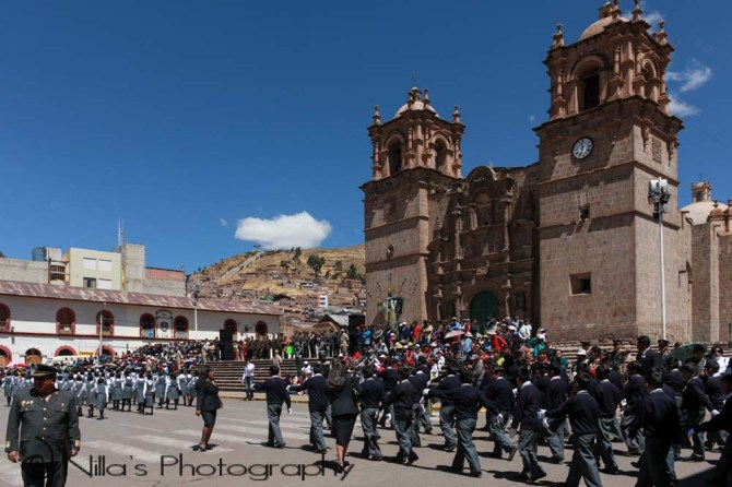 Plaza de Armas, Cathedral, Puno, Peru, South America