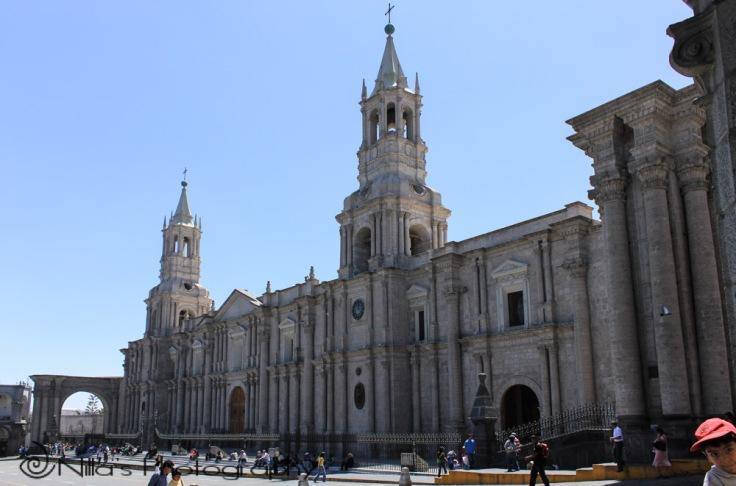 Basilica Cathedral, Arequipa, Peru, South America