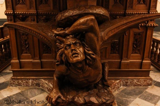 The Devil, Basilica Cathedral, Arequipa, Peru, South America