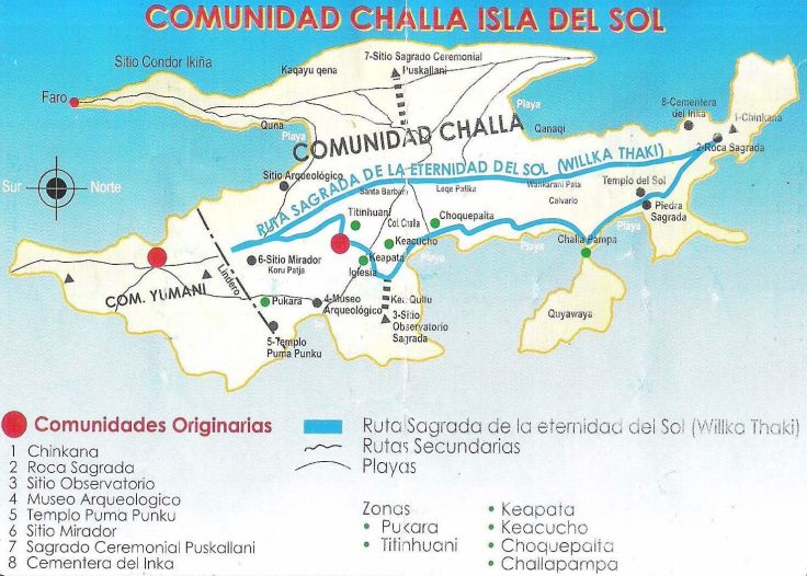 Cha'llapampa, Yumani, Isla Del Sol, Lake Titicaca, Copacabana, Bolivia, South America