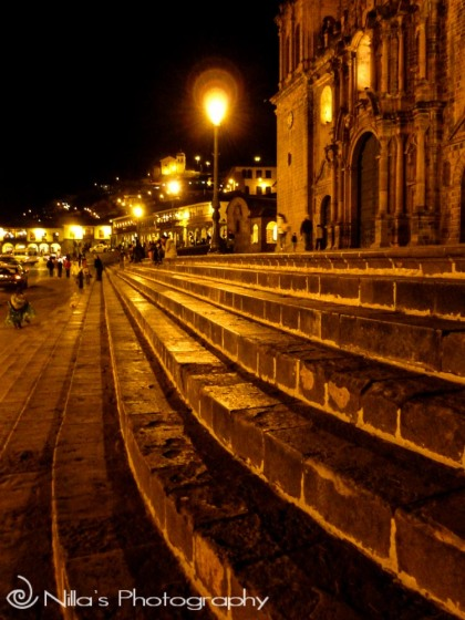 Cathedral steps, Cusco, Cuzco, Peru, South America