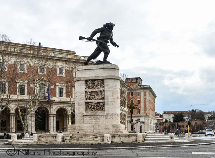 Bersaglieri monument, Rome, Italy, Europe