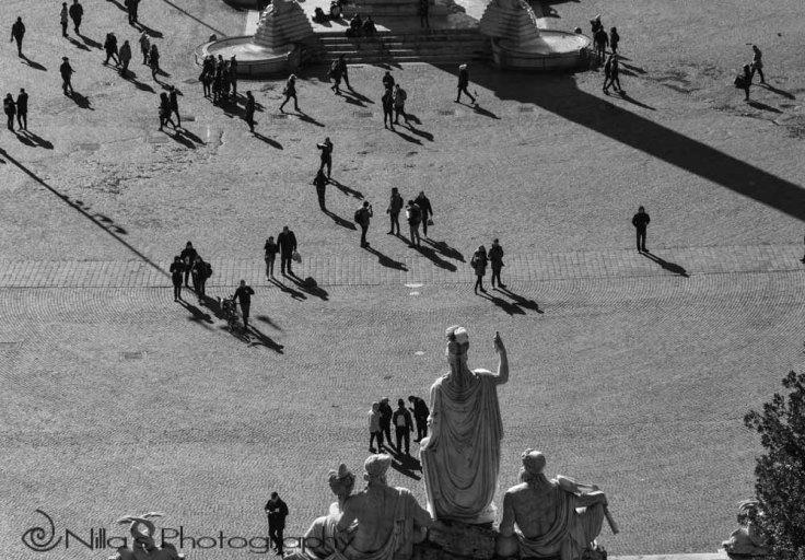 Pincian Hill, Piazza del Popolo, Rome, Italy Europe