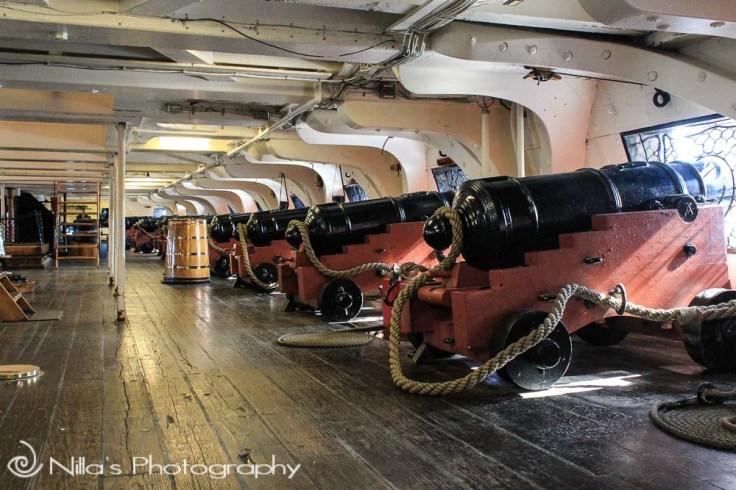 USS Constitution, cannons, Boston, Massachusetts, USA, North America