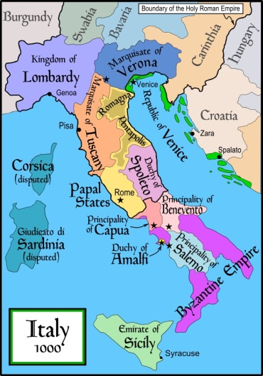 Italy 1000AD, Europe