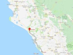Chiclayo map, Peru, South America