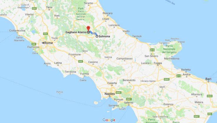 Sulmona to Gagliano, Abruzzo, Italy, Europe