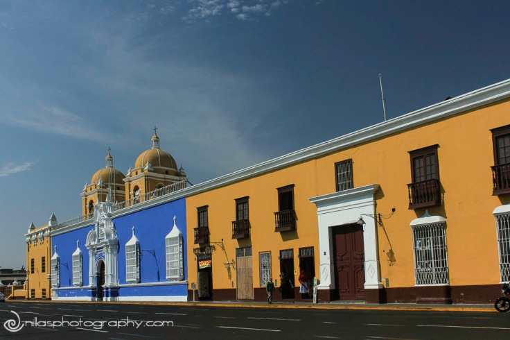 Colonial buildings, Trujillo, Peru, South America