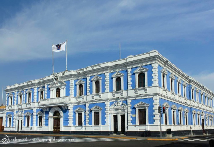 Municipality, Colonial building, Trujillo, Peru, South America