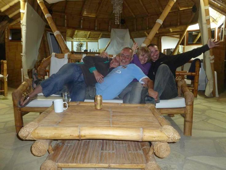 Friends, Pacific Ocean, Los Organos, Peru, South America
