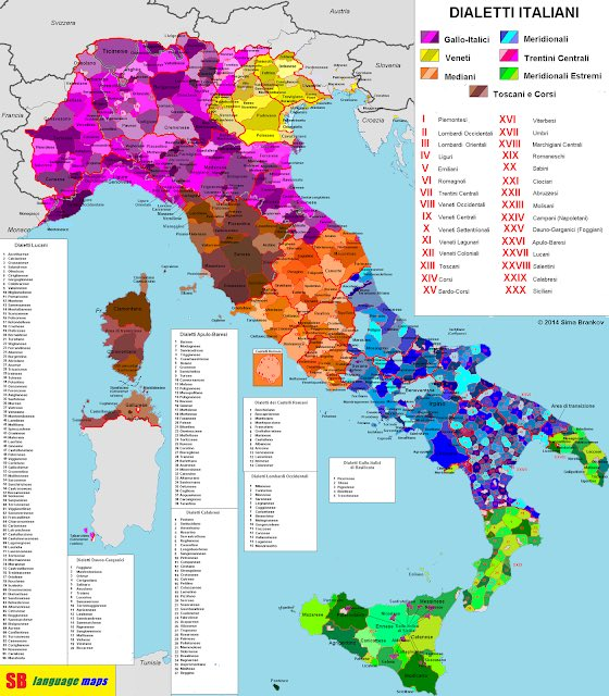 SB Language Maps, languages, Italian, dialects
