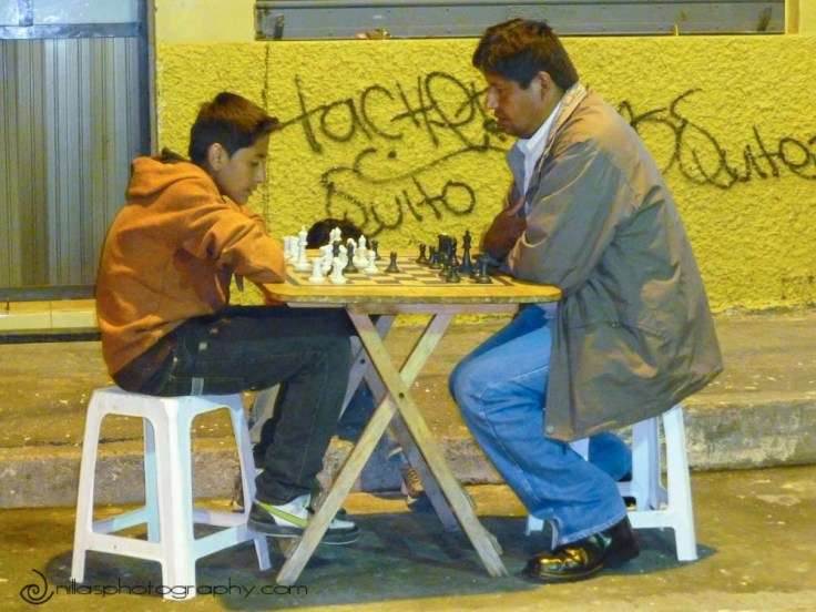Chess players, Cuenca, Ecuador, South America