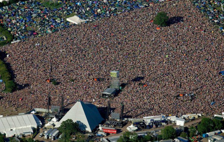aerial, Glastonbury Festival, United Kingdom, Europe
