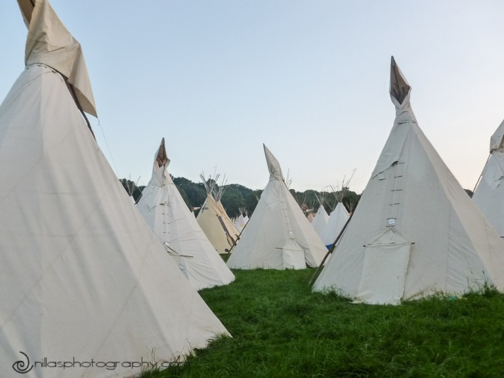 Tipis, Glastonbury Festival, United Kingdom, Europe