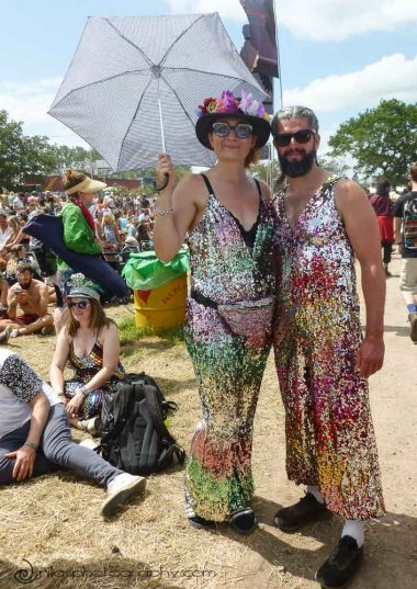 Festival-goers, Glastonbury Festival, United Kingdom, Europe