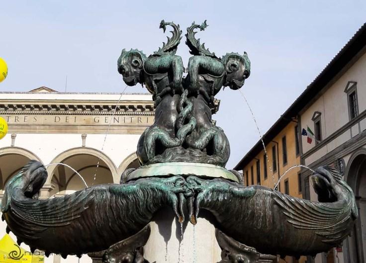 Piazza della Santissima Annunziata, Florence, Italy, Europe
