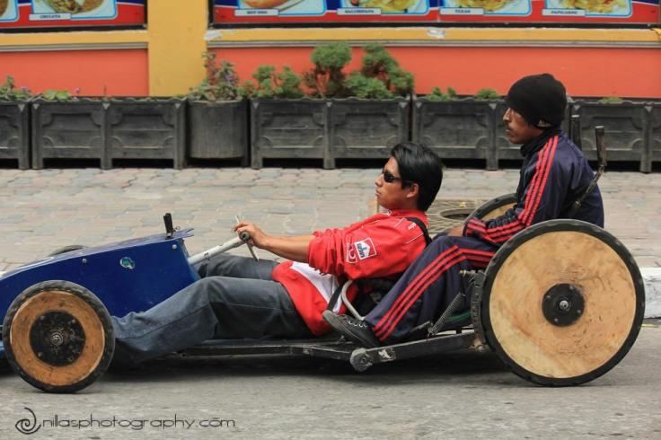 go-cart race, Baños, Ecuador, South America