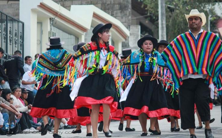 Folk dancers, Baños, Ecuador, South America