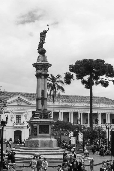 Heroes of the Independent Statue, Quito, Ecuador, South America