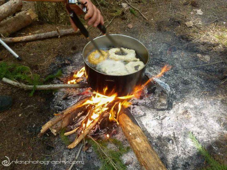 BBQ, making Cuddrurieddri, Sila National Park, Calabria, Italy