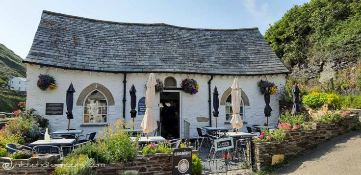 The Harbour Light Tea Garden, Boscastle, Cornwall, England, United Kingdom, Europe