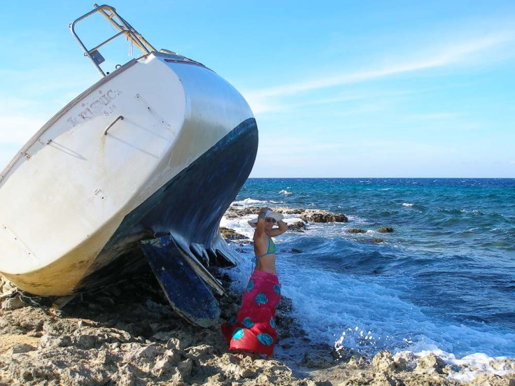shipwreck, Klein Curaçao, Netherlands Antilles, southern Caribbean