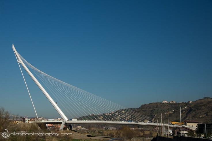 Calatrava Bridge, Cosenza, Calabria, Italy, Europe