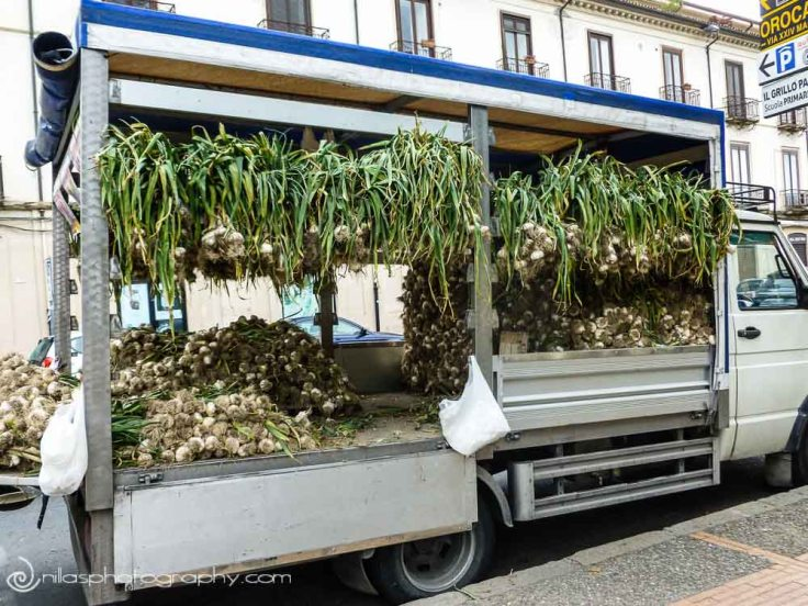 Garlic van, Cosenza, Calabria, Italy, Europe