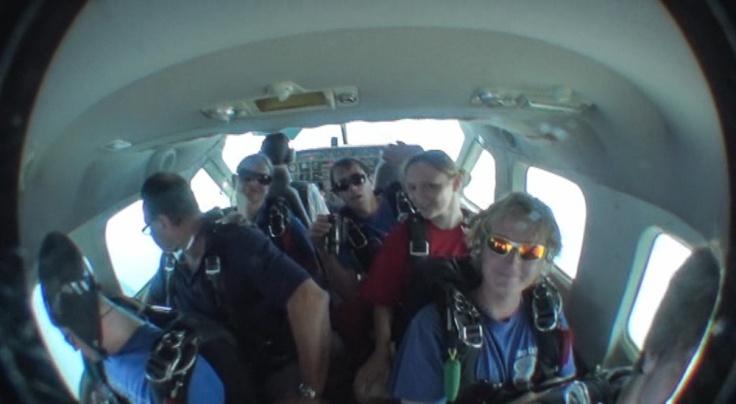 skydiving, Sutton Beach, Redcliffe, Queensland, Australia
