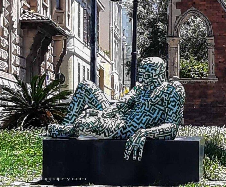 sculptures, Lungomare, Reggio Calabria, Italy, Europe