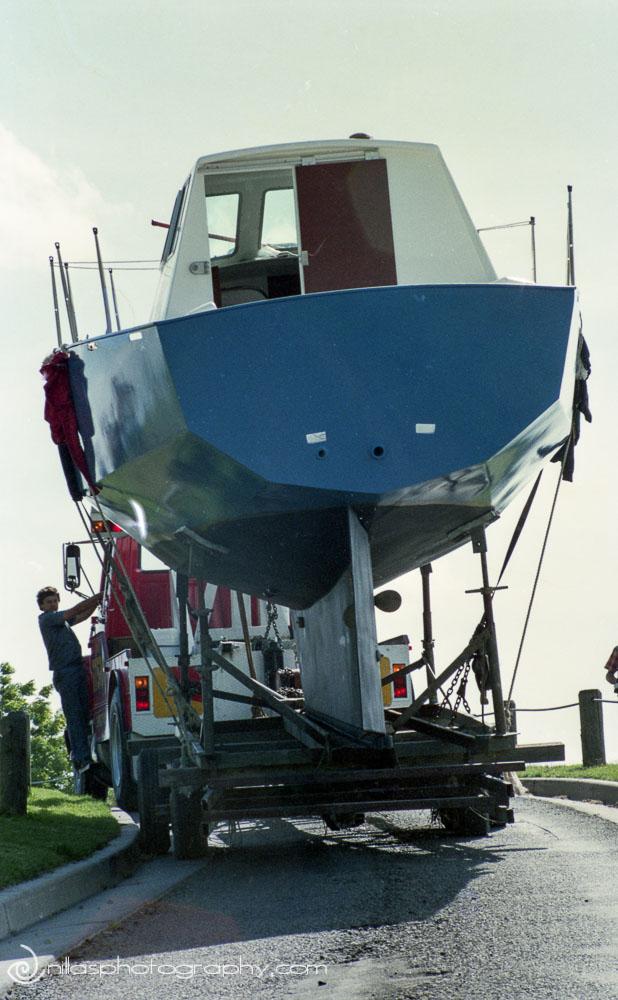 boat building, launching, Windsor, Hawkesbury, NSW, Australia, Oceania