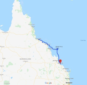 Townsville to Gladstone, Queensland, Australia, Oceania