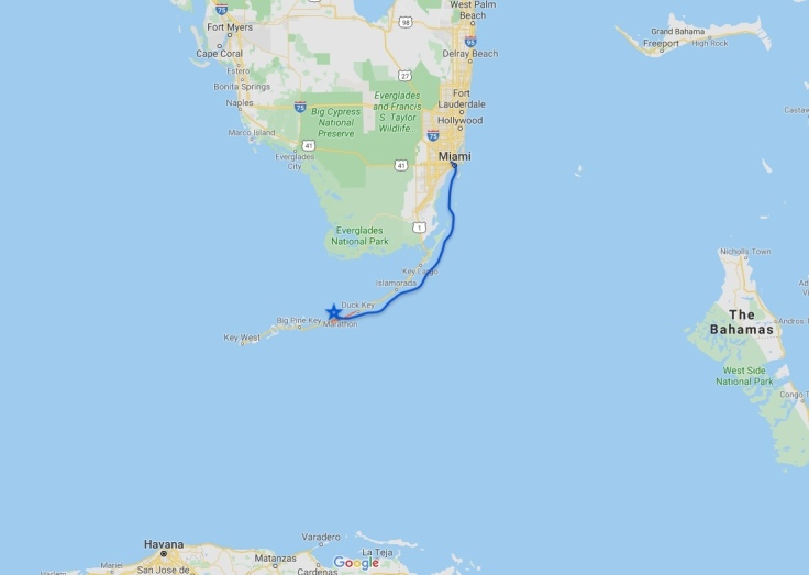 Sailing from Miami to Marathon, Florida, USA