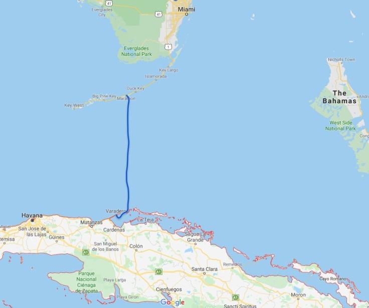 Marathon Florida, US to Varadero, Cuba, Caribbean