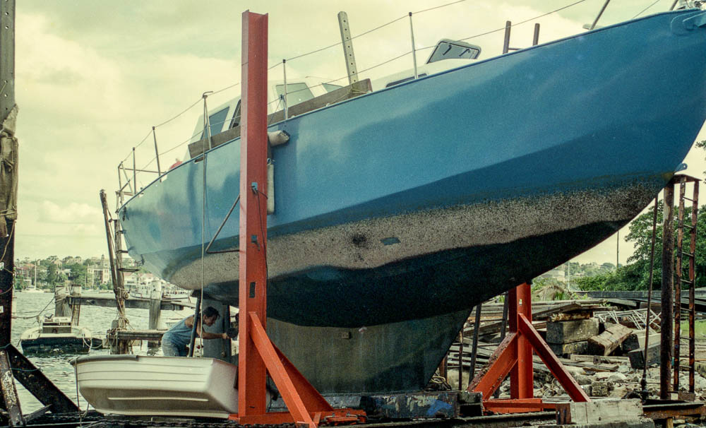 Slipping boat, Sydney, NSW, Australia, Oceania