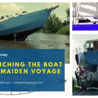 Sailing Journey: Launching the Boat and Maiden Voyage